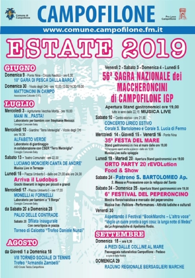 Calendario Sagre.Comune Di Campofilone